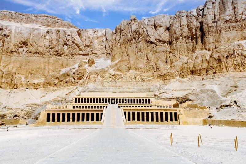 Tempiale mortuario della regina Hatshepsut Luxor, Egitto fotografia stock libera da diritti