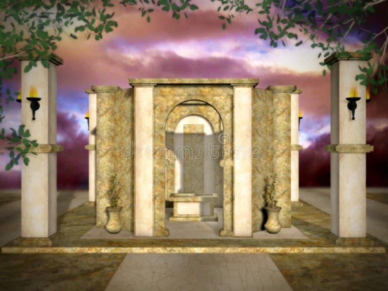Tempiale Mystical dorato fotografie stock