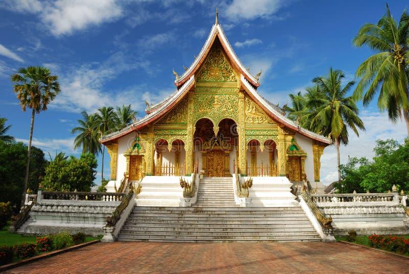 Tempiale nel museo di Luang Prabang, Laos fotografia stock libera da diritti