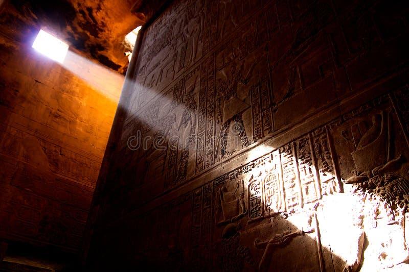 Tempiale nell'Egitto fotografia stock