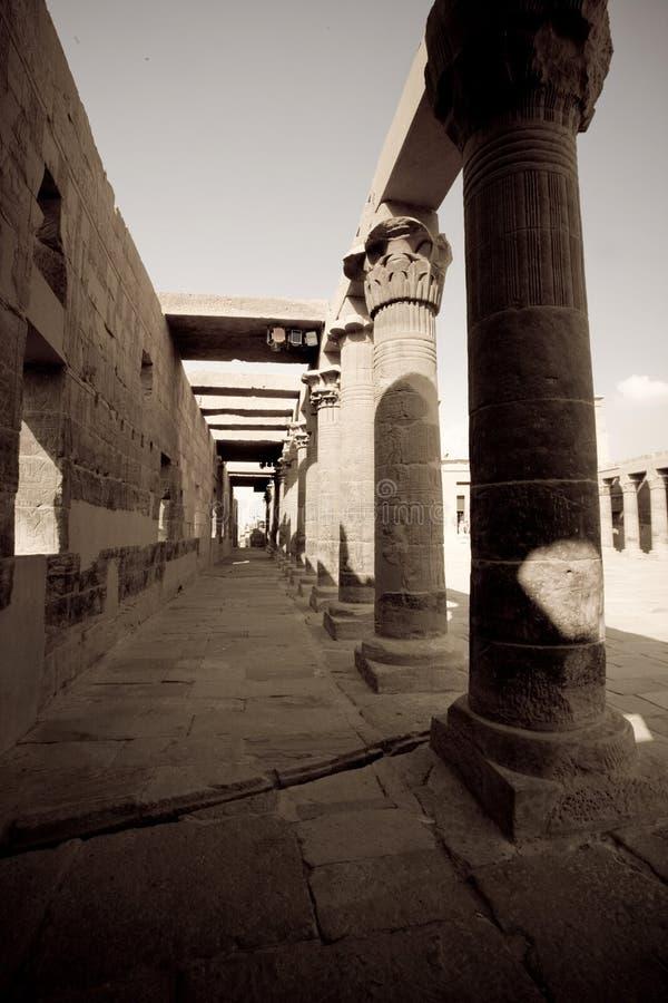 Tempiale nell'Egitto immagine stock libera da diritti