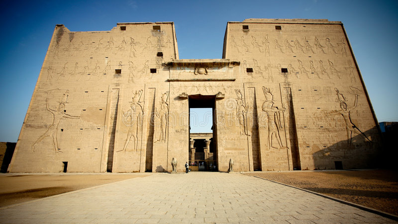 Tempiale nell'Egitto fotografia stock libera da diritti