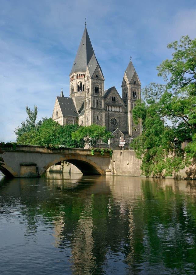 Tempiale Neuf Metz immagine stock