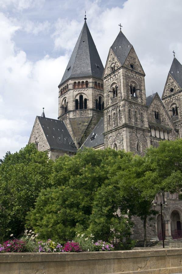 Tempiale protestante a Metz fotografie stock libere da diritti