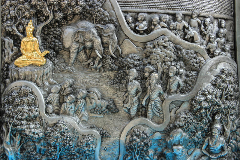 Tempiale tailandese di arte immagini stock