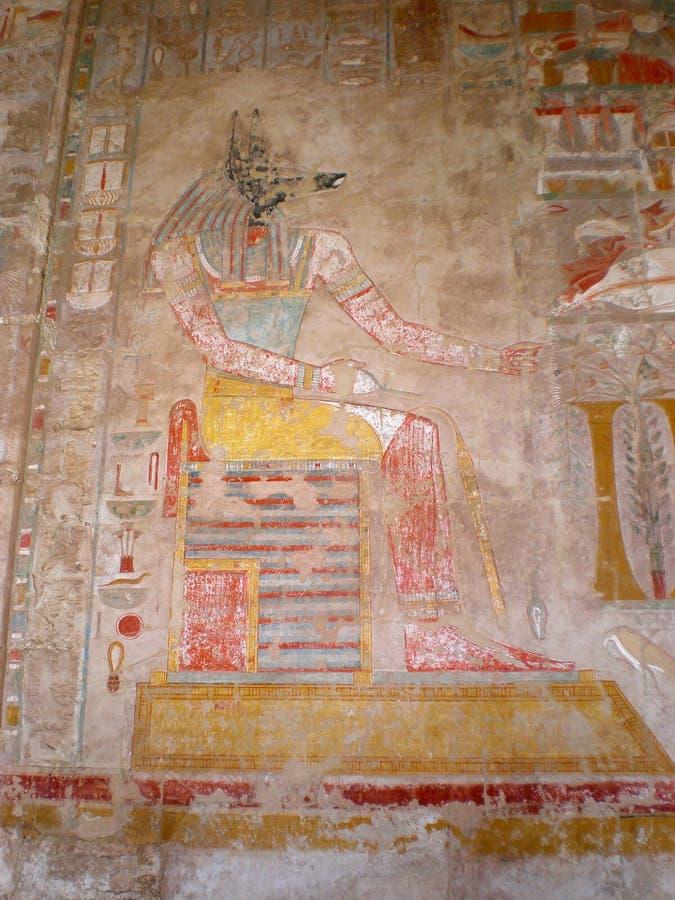 Tempiale Thebes Egitto di Medinet Habu fotografie stock libere da diritti