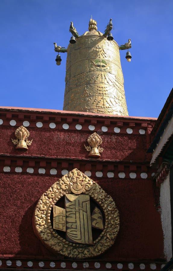 Tempiale tibetano fotografie stock libere da diritti