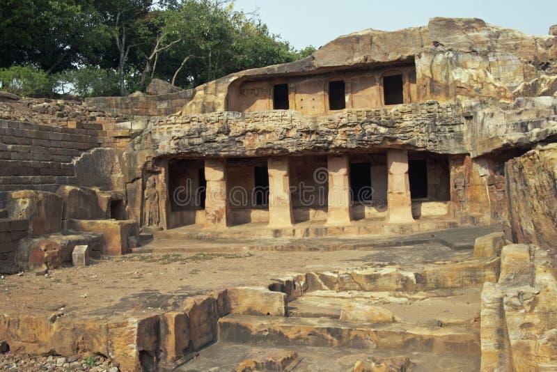Tempie antiche della caverna fotografia stock libera da diritti