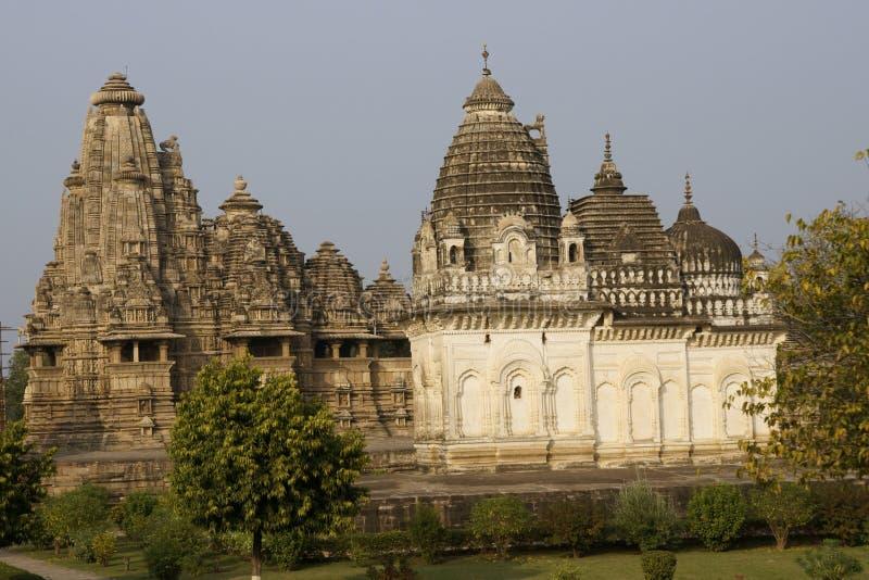 Tempie antiche a Khajuraho fotografia stock libera da diritti