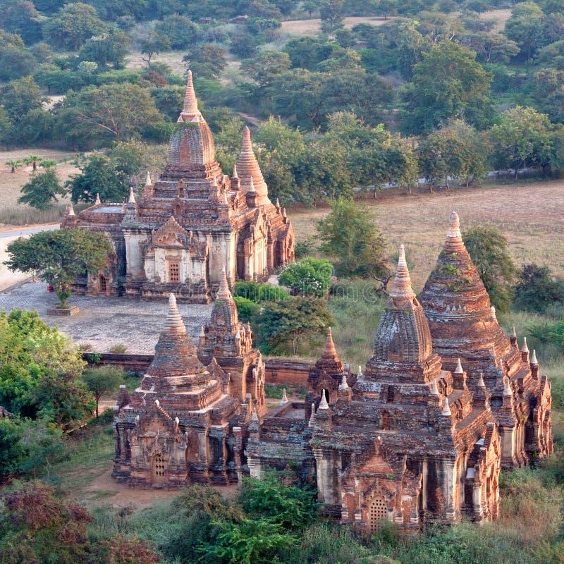 Tempie antiche nella zona archeologica di Bagan, Myanmar immagini stock libere da diritti