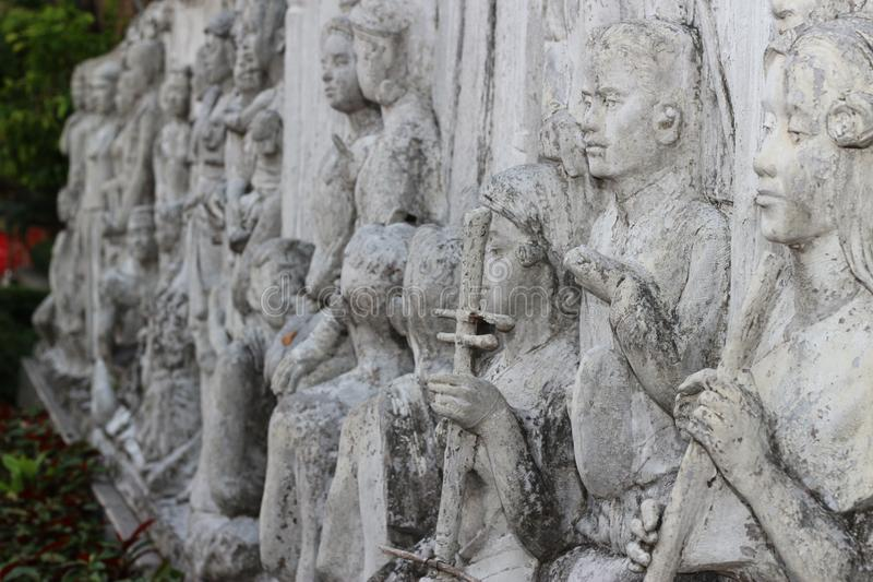 Tempie a Bangkok, cielo, Tailandia, Bangkok, cultura fotografie stock