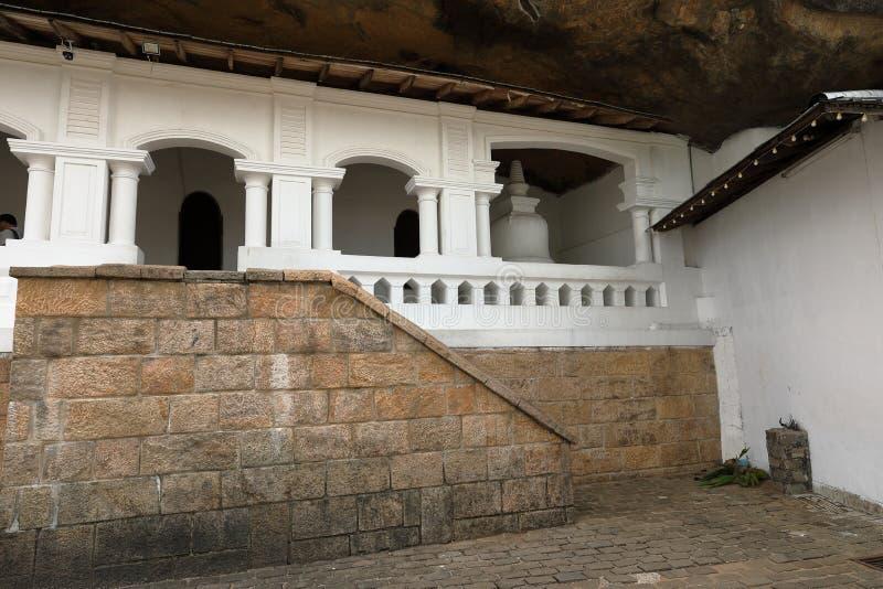 Tempie della caverna di Dambulla nello Sri Lanka immagine stock