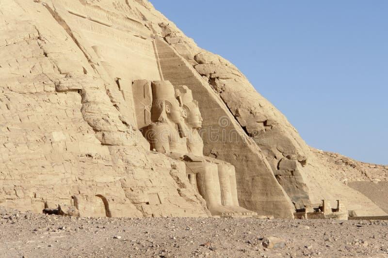 Tempie di Abu Simbel nell'Egitto fotografia stock