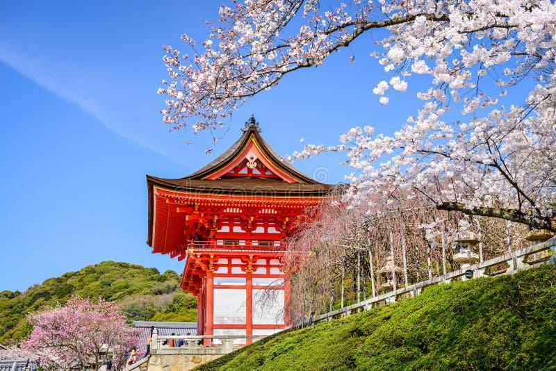 Tempie di Kyoto in primavera immagini stock