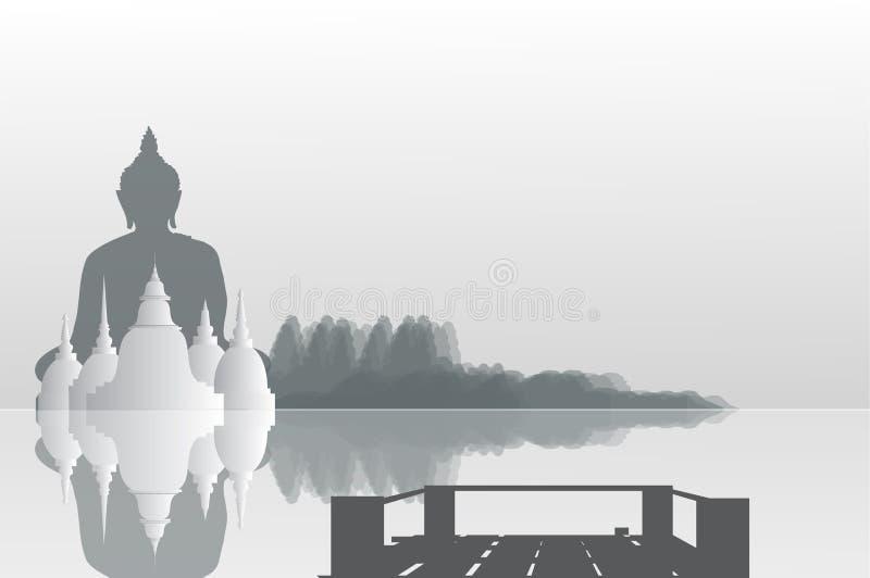 Tempie e pagode nel bello paesaggio fotografie stock