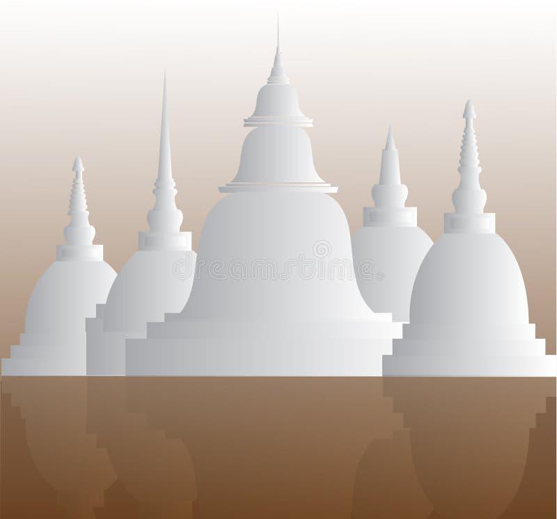 Tempie e pagode nel bello paesaggio fotografie stock libere da diritti