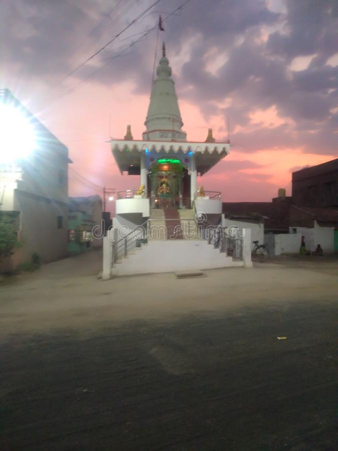 Tempie indù indiane in Durga Mandir fotografia stock
