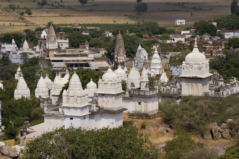 Tempie Jain - Sonagiri - India fotografie stock libere da diritti