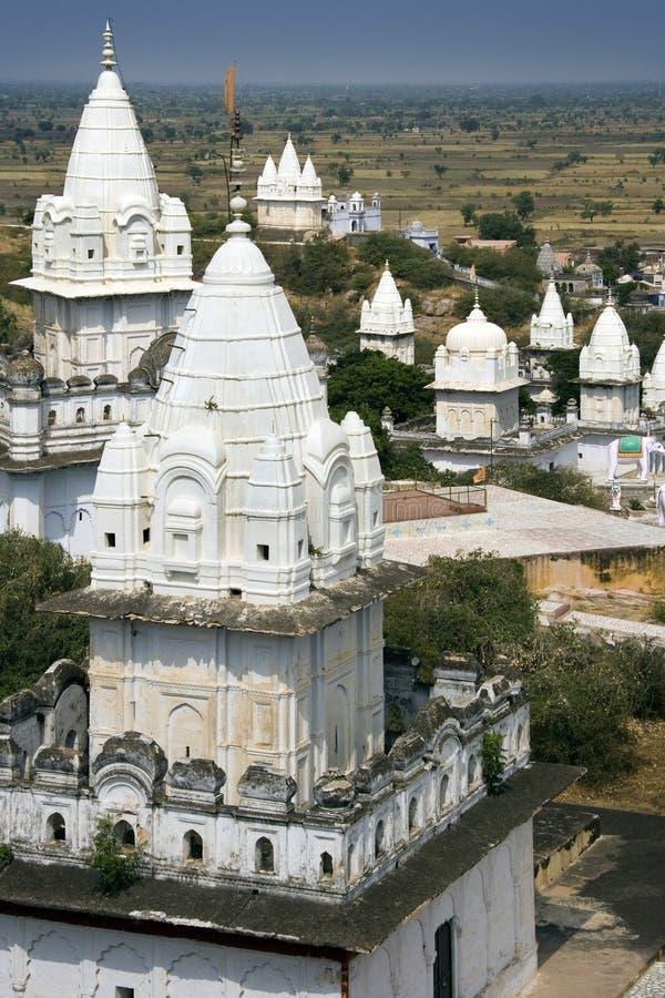 Tempie Jain - Sonagiri - India fotografia stock