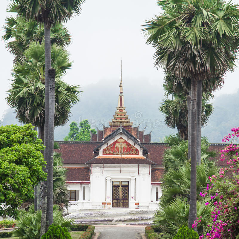 Tempie nel prabang di Luang fotografia stock libera da diritti