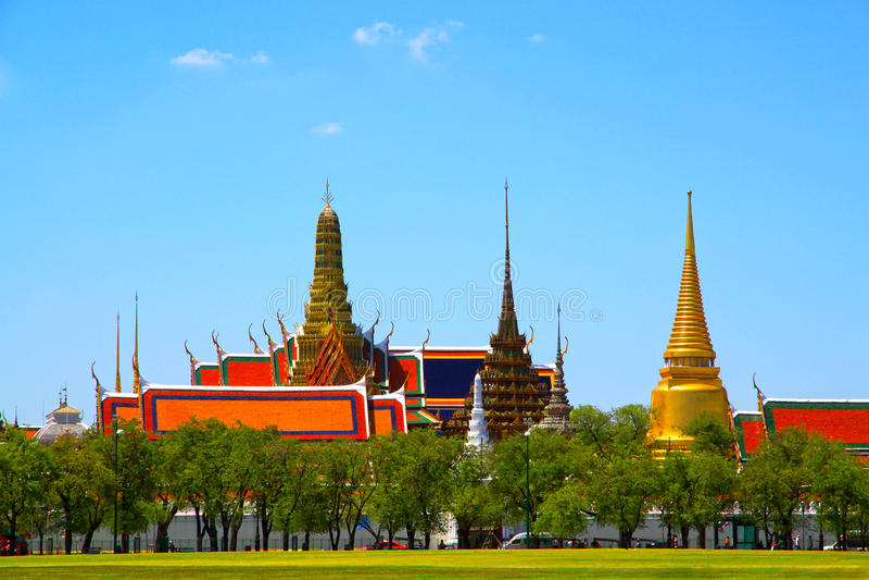 Tempie tailandesi, Wat Phra Kaew fotografia stock libera da diritti