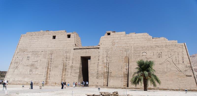 Tempio al habu del medinat immagine stock