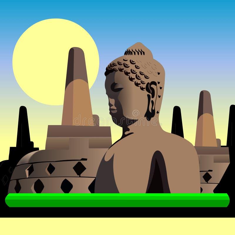 Tempio antico dell'Indonesia Borobudur fotografie stock libere da diritti