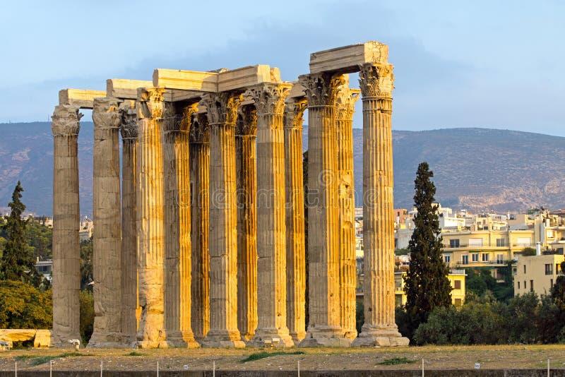 Tempio antico di Zeus fotografia stock libera da diritti