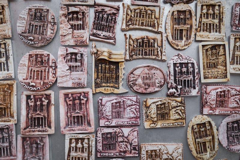 Tempio antico nel PETRA, Giordania fotografie stock libere da diritti