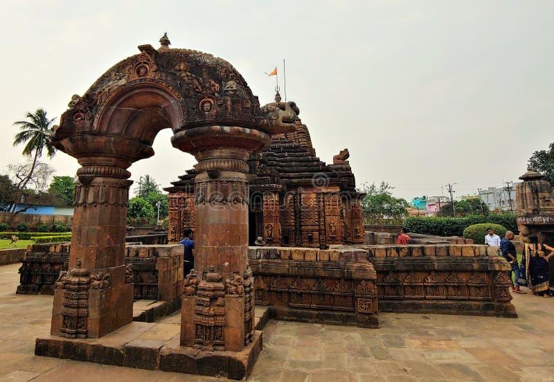 Tempio bhubaneswar l'Orissa India di mogli del ragià del raja immagini stock