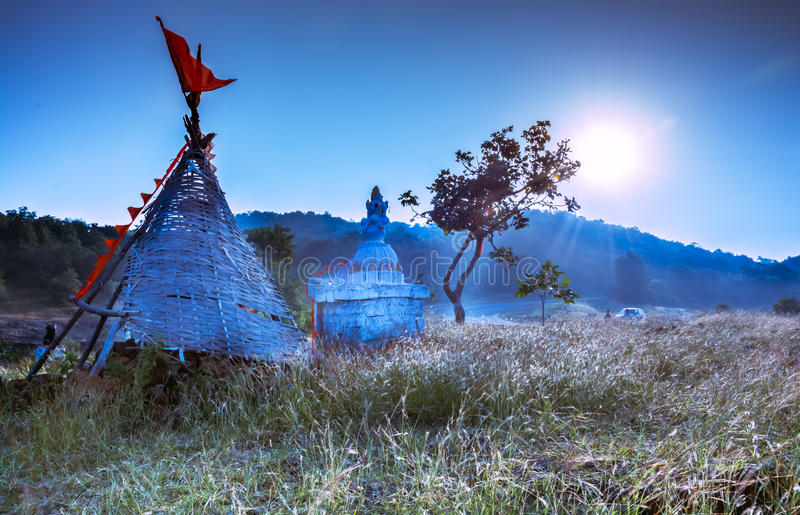 Tempio blu fotografia stock libera da diritti