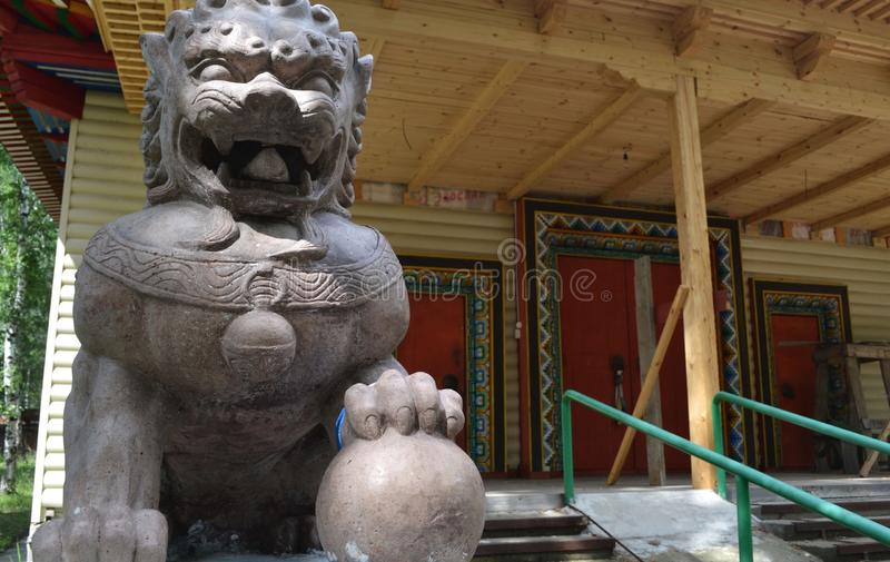 Tempio buddista Datsan in Buriazia fotografie stock libere da diritti