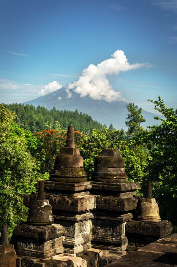 Tempio buddista di Borobudur immagini stock