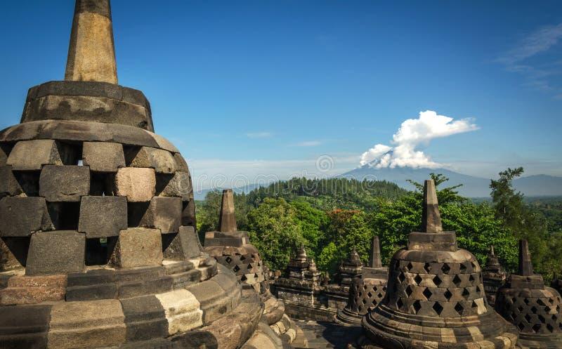 Tempio buddista di Borobudur fotografia stock libera da diritti
