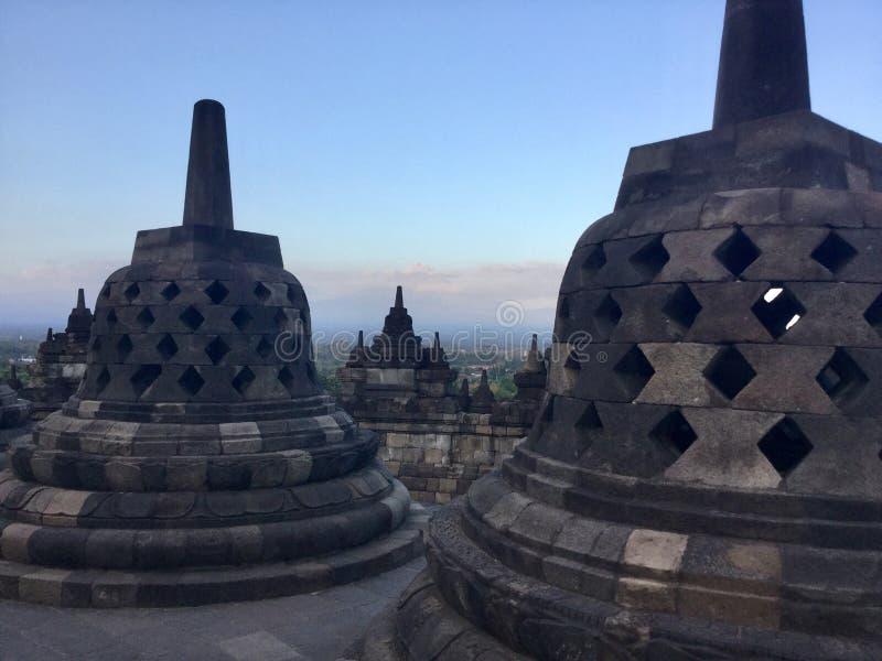 Tempio buddista di Borobudur Stupas Vicino a Yogyakarta su Java Island, l'Indonesia fotografia stock