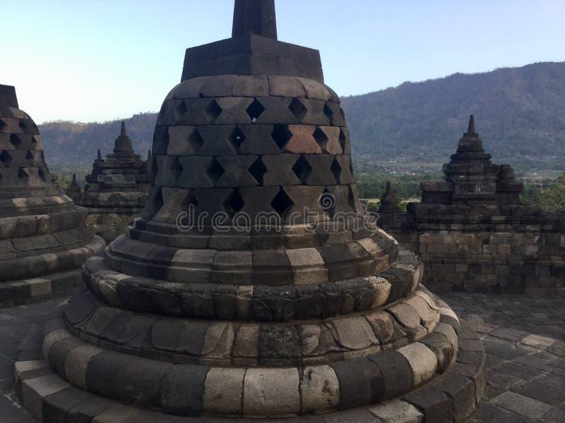 Tempio buddista di Borobudur Vicino a Yogyakarta su Java Island, l'Indonesia fotografia stock libera da diritti