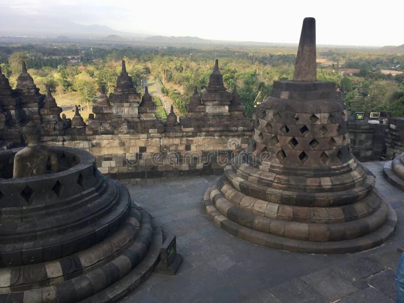 Tempio buddista di Borobudur Vicino a Yogyakarta su Java Island, l'Indonesia immagine stock