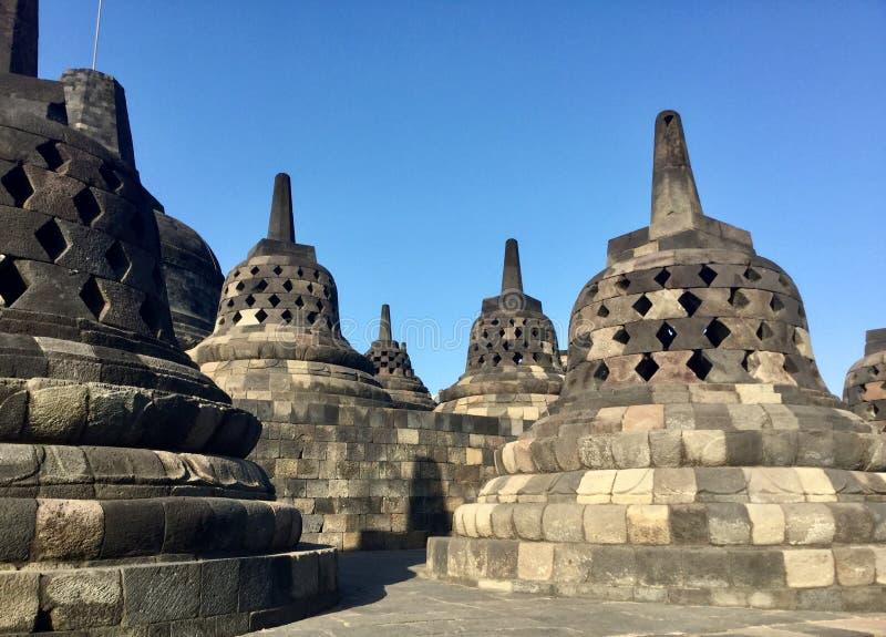 Tempio buddista di Borobudur Vicino a Yogyakarta su Java Island, l'Indonesia fotografie stock libere da diritti