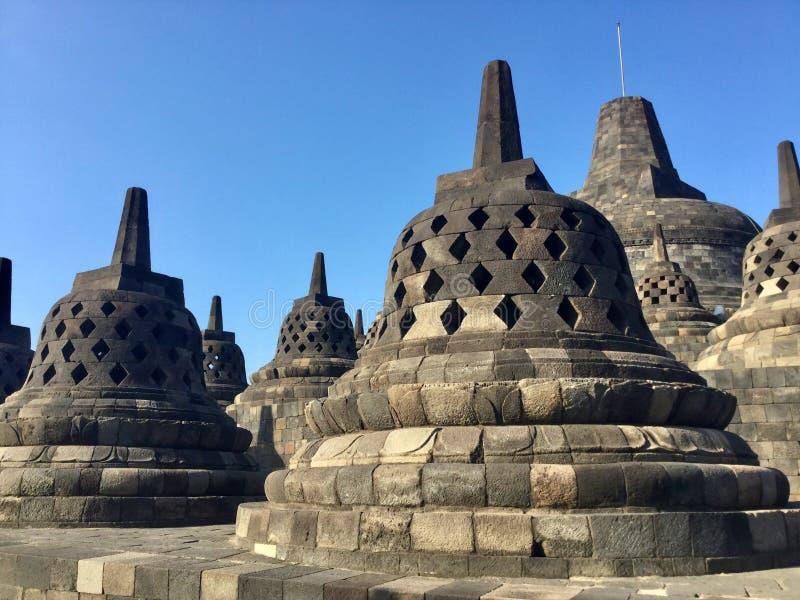 Tempio buddista di Borobudur Vicino a Yogyakarta su Java Island, l'Indonesia fotografia stock