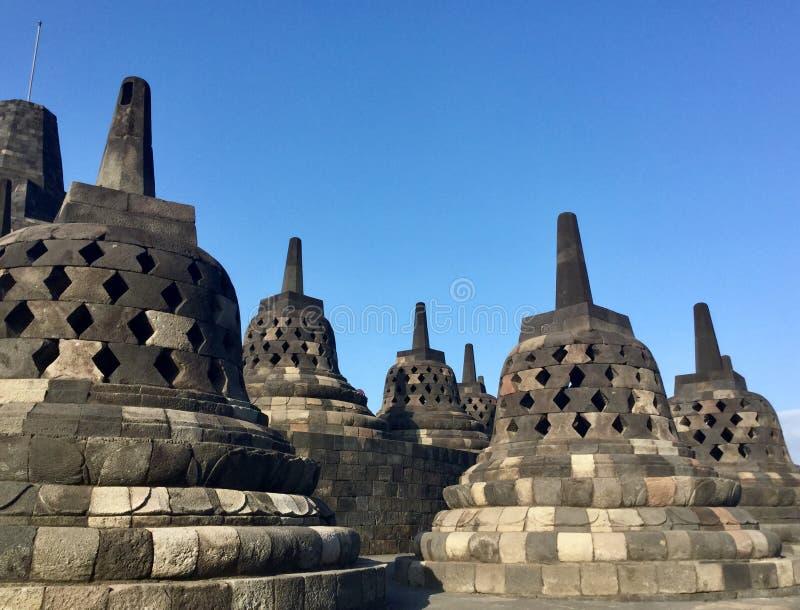 Tempio buddista di Borobudur Vicino a Yogyakarta su Java Island, l'Indonesia immagini stock