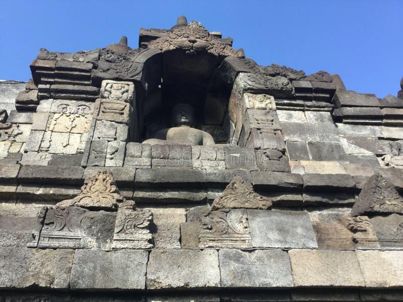 Tempio buddista di Borobudur Vicino a Yogyakarta su Java Island, l'Indonesia immagine stock libera da diritti