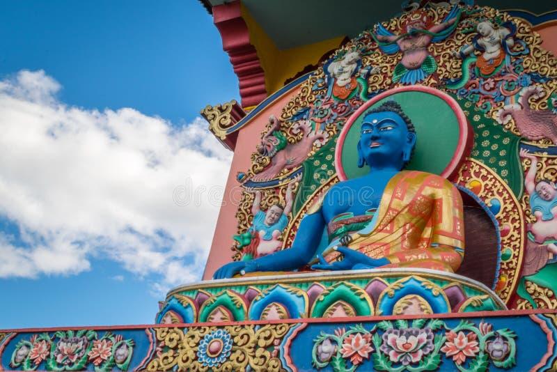 Tempio buddista di Chagdud Gonpa, Gramado Brasile immagini stock libere da diritti