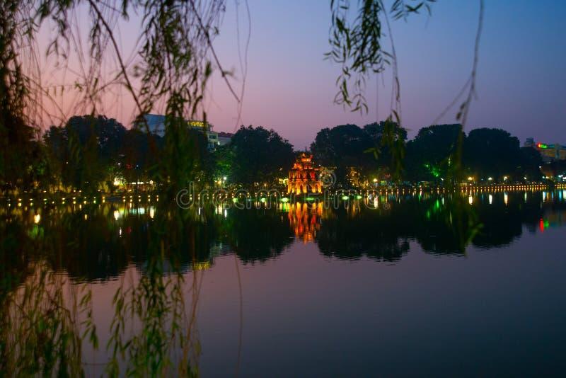 Tempio buddista nel Vietnam nella capitale del Vietnam a Hanoi fotografie stock