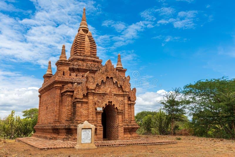tempio buddista pagoda Bagan, Myanmar Birmania Regione di Mandalay fotografie stock libere da diritti