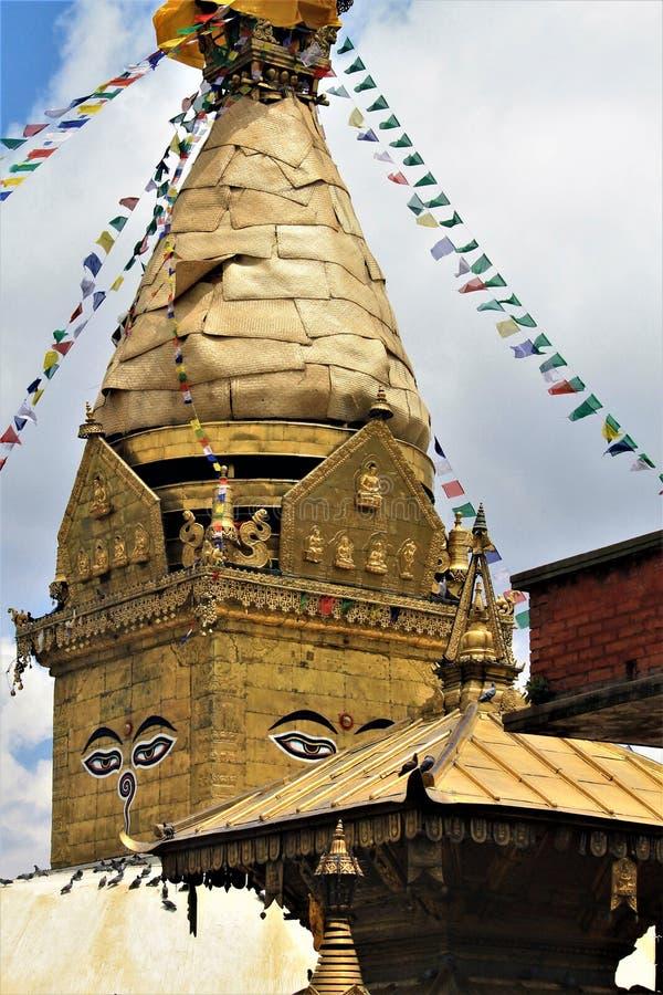 Tempio buddista & x28; Scimmia Temple& x29; immagine stock