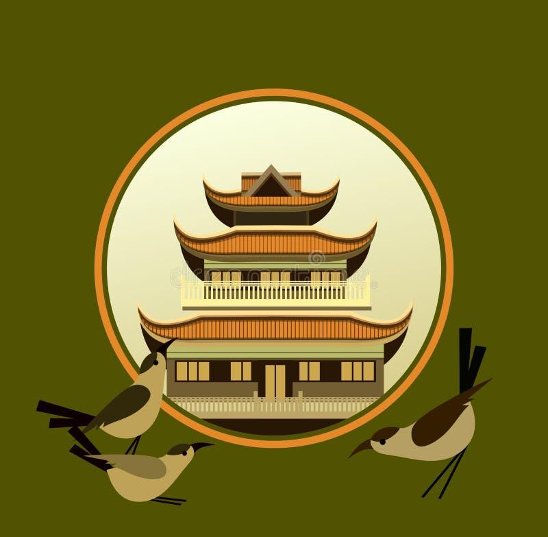 Tempio buddista vecchio illustrazione vettoriale