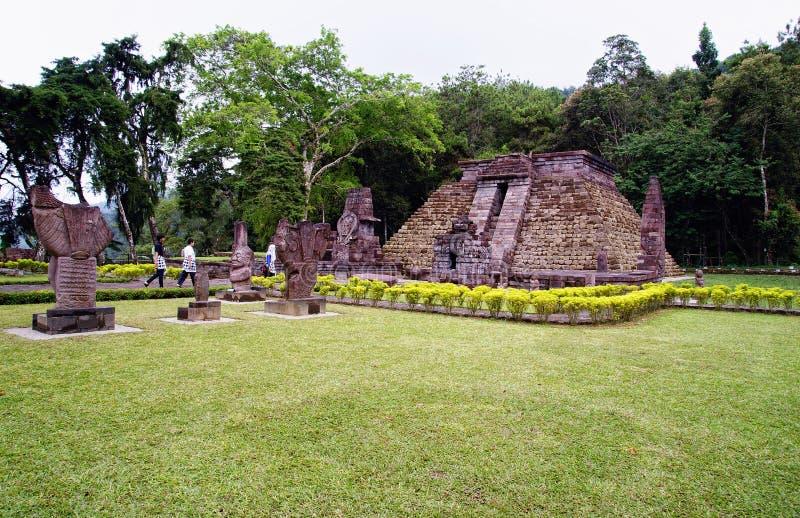 Tempio/Candi Sukuh di Sukuh fotografie stock
