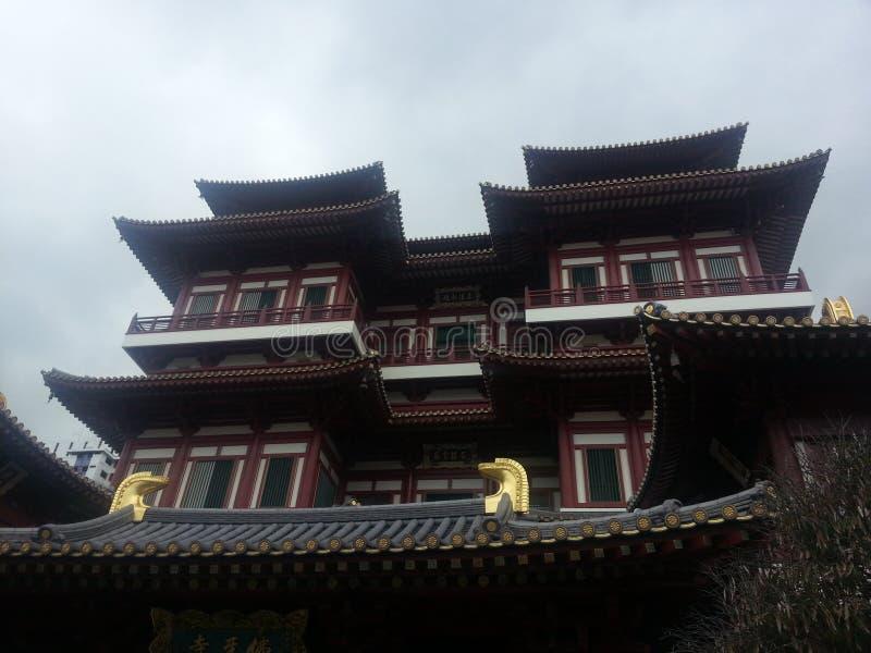 tempio cinese allo sg di Chinatown fotografie stock libere da diritti