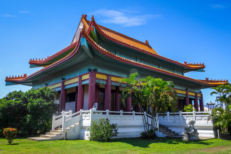 Tempio cinese a Papeete sull'isola della Tahiti fotografie stock