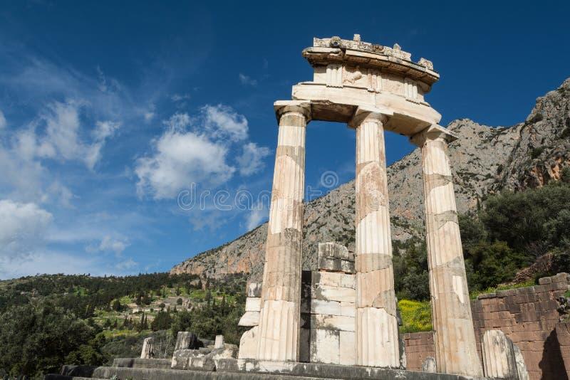 Tempio circolare del santuario di Athena Pronaia fotografia stock libera da diritti